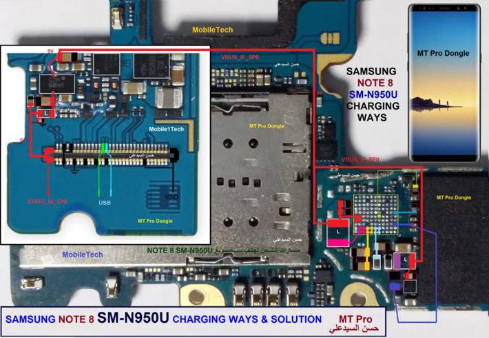 Samsung Galaxy Note 8 N950U Usb Charging Problem Solution Jumper Ways