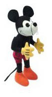 Stuffed Mickey Mouse with screw-top head