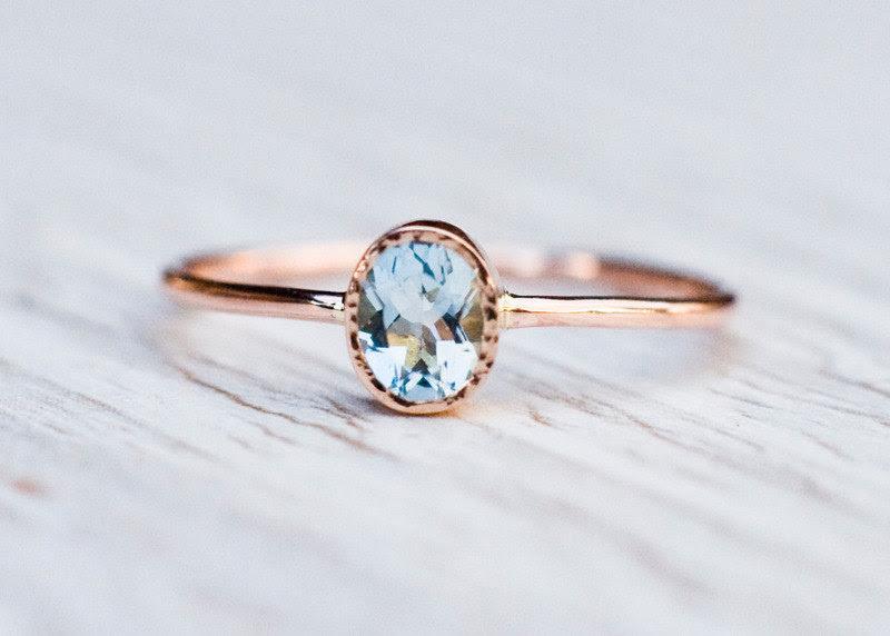 Resultado de imagen para aquamarine rings