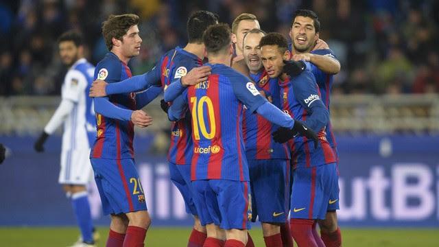 Assistir  Real Sociedad x Barcelona ao vivo 14/01/2018