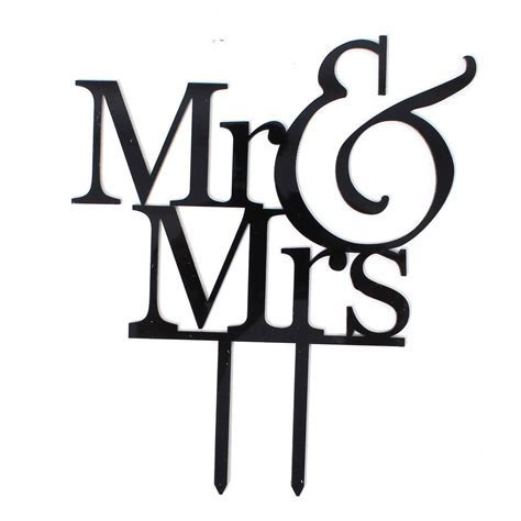 Mr And Mrs Cake Topper   Hobbycraft