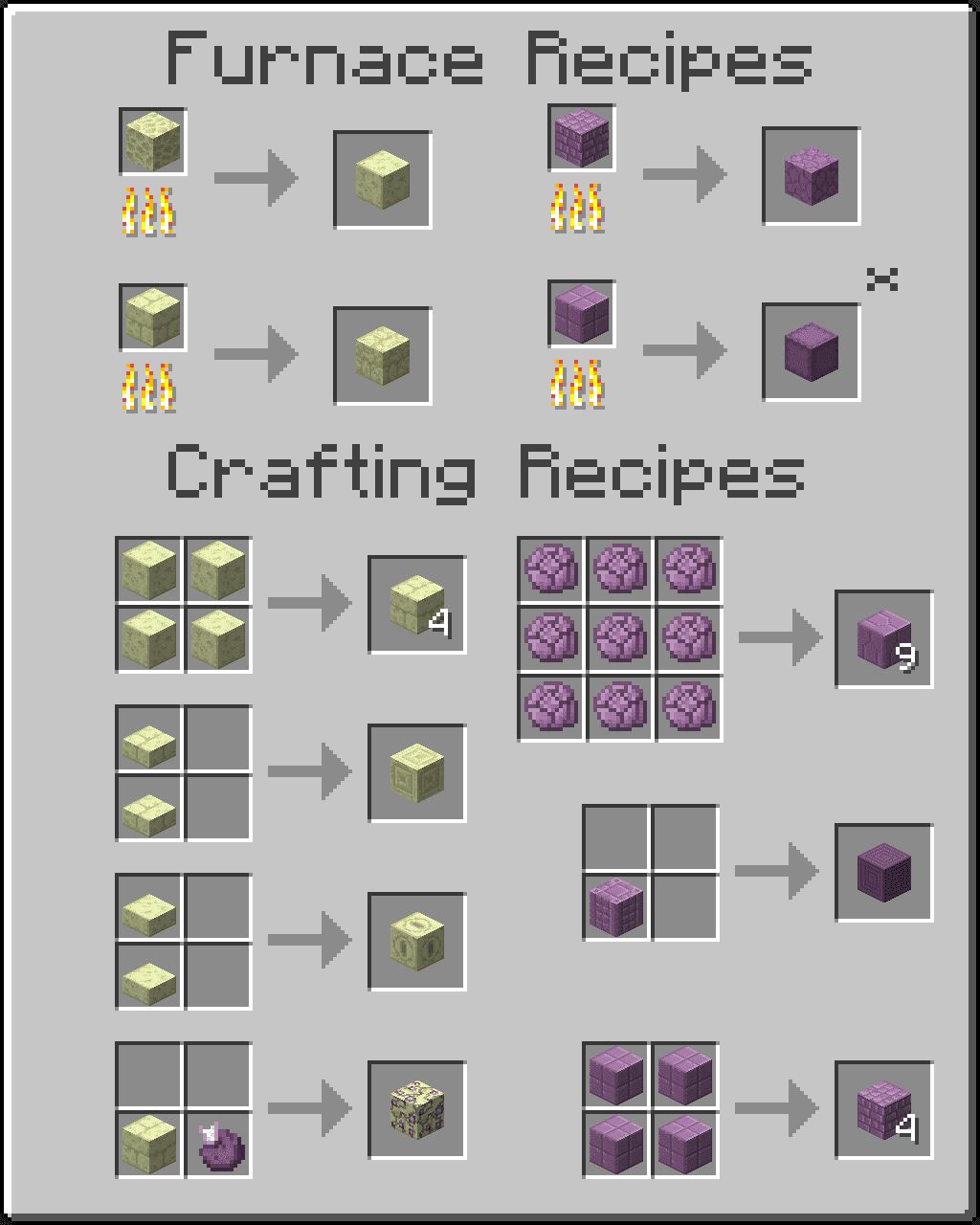Additional Ender Blocks Mod 1.12.2 (Building Blocks to The ...