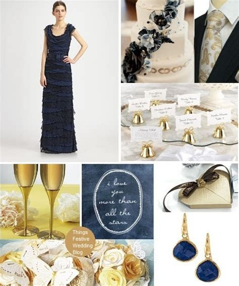 Navy Blue and Gold Wedding Theme   Things Festive Weddings