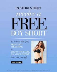 Free Boy Short Fredrick of Hollywood 238x300 FREE Boy Short Panty at Fredricks of Hollywood