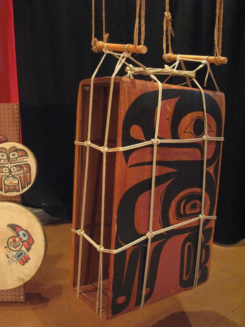 hanging box drum, Sitka, Alaska