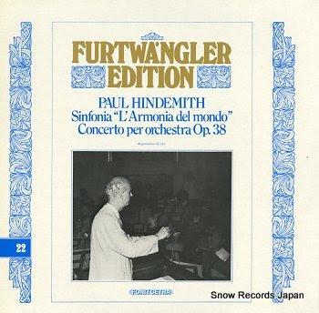 FURTWANGLER, WILHELM paul hindemith; sinfonia l'armonia del mondo concerto per orchestra op.38