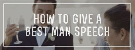 How to Give a Best Man Speech ? Gentleman's Gazette