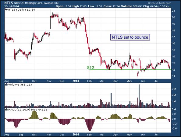 1-year chart of NTELOS (Nasdaq: NTLS)