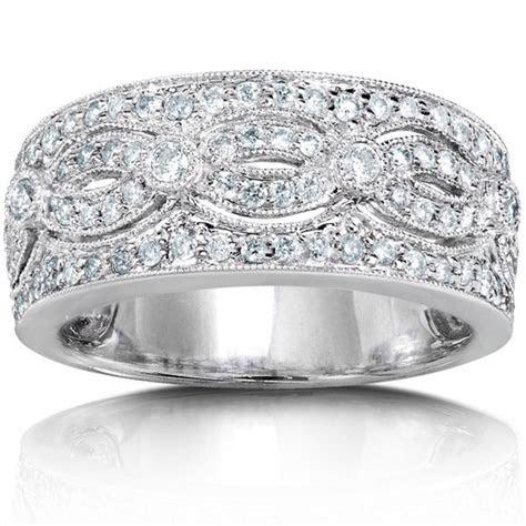 Stunning Huge Round Diamond Wedding Band for Her in White