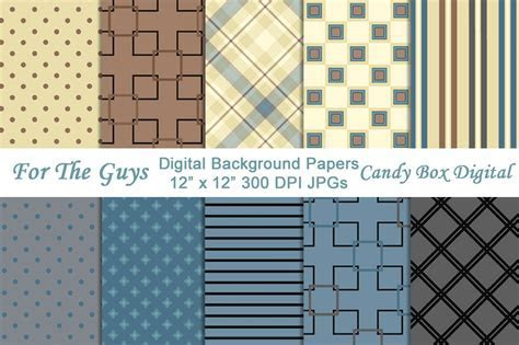 Masculine Digital Background Papers ~ Graphic Patterns