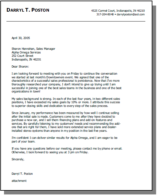 Opening To Cover Letter Sample Cover Letter
