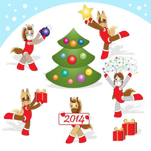 Забавни картички за годината на коня