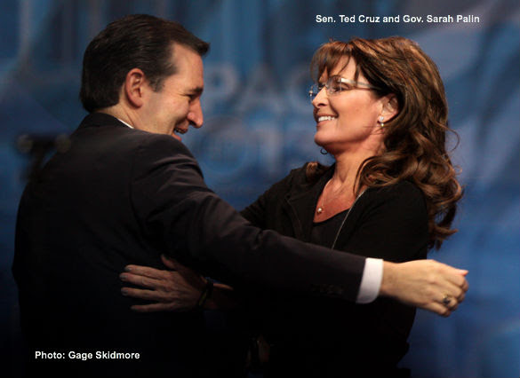 Ted Cruz and Sarah Palin at CPAC 2013