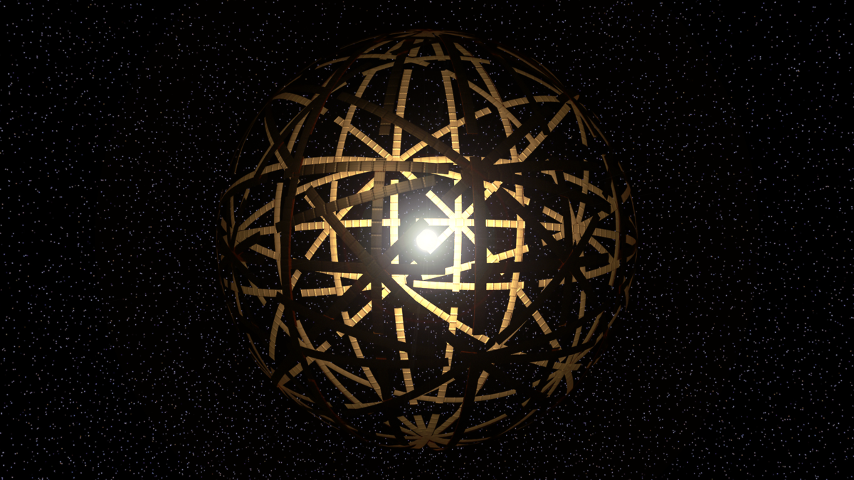 Artist's conception of a Dyson Sphere. Image Credit: Kevin Gill via Flickr CC By SA 2.0