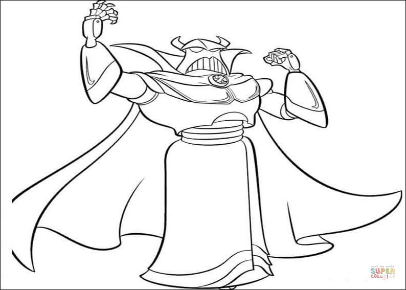 Zurg coloring page | Free Printable Coloring Pages