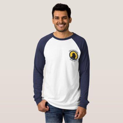 Long Sleeve Raglan T-Shirt: Math Smart Caveman T-Shirt