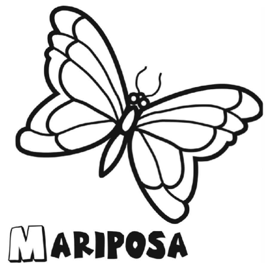 Dibujos Para Colorear Mariposas Mariposa Monarca Para Imprimir
