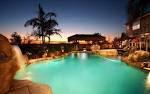 Beautiful Swimming Pool with Waterfall widescreen wallpaper | Wide-
