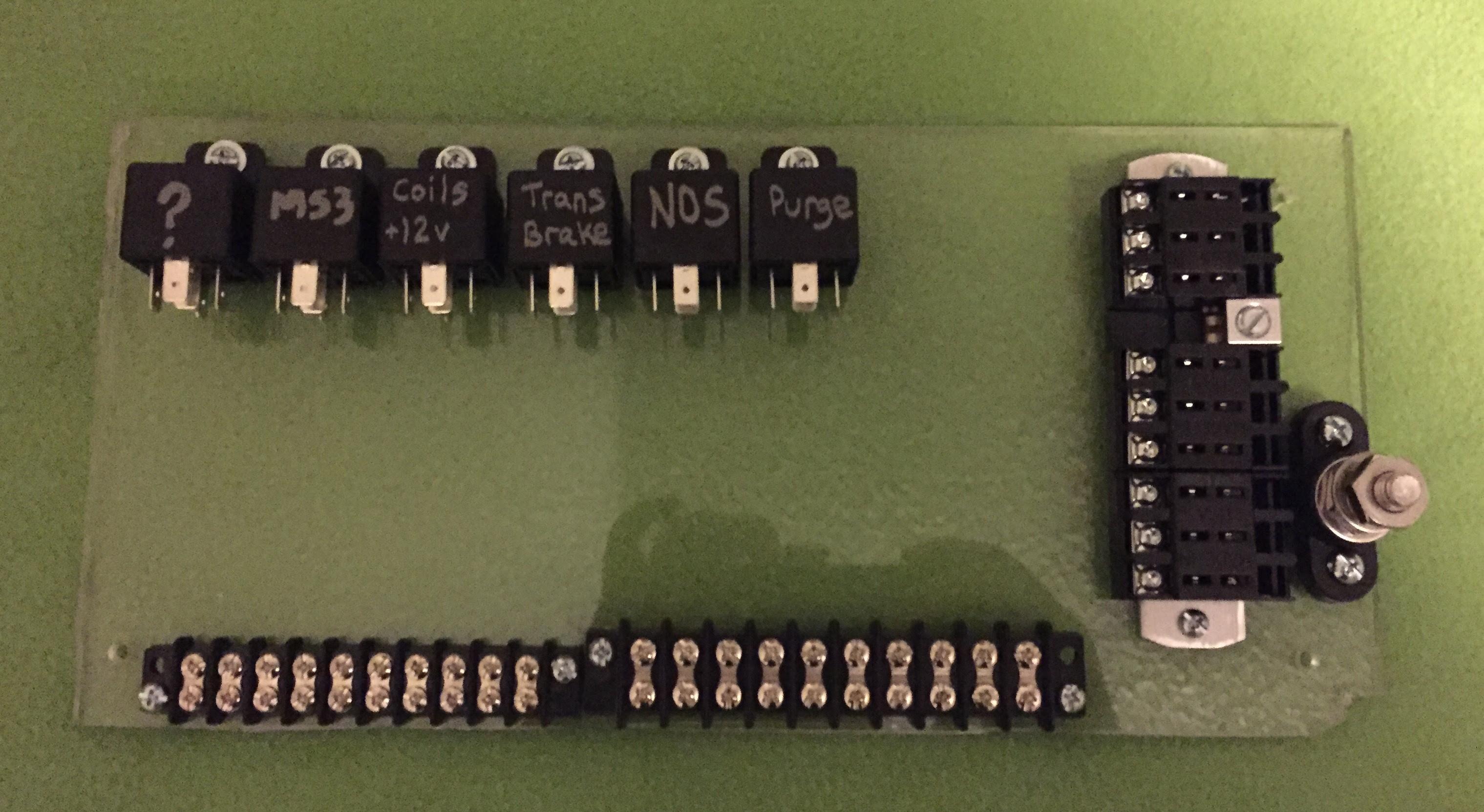 12v relay wiring to terminal block diagram image 4