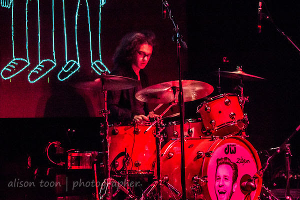 Bob Hall, drums, Catfish and the Bottlemen, Sacramento, October 2014