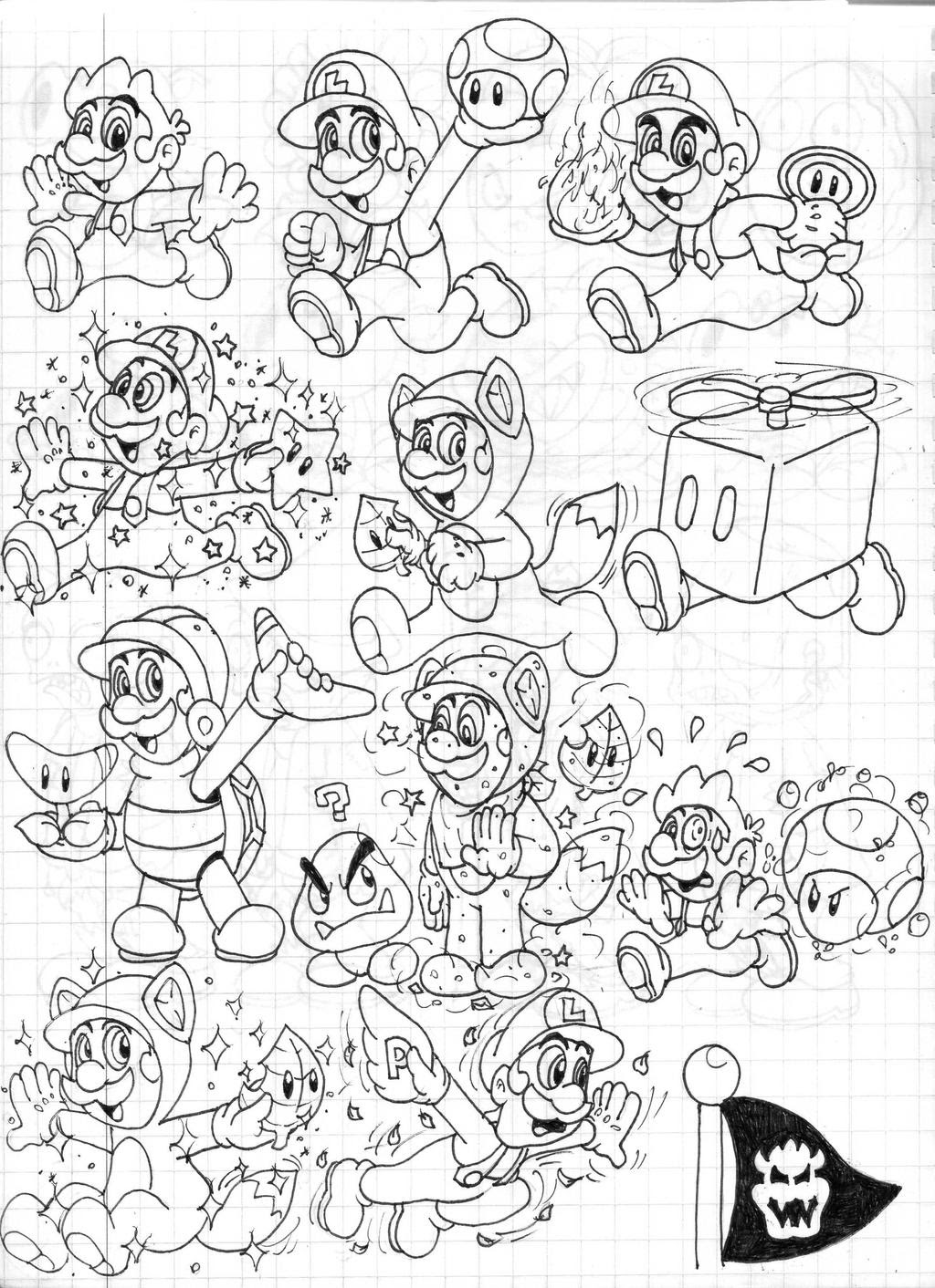 mario world 3d coloring pages photo 20