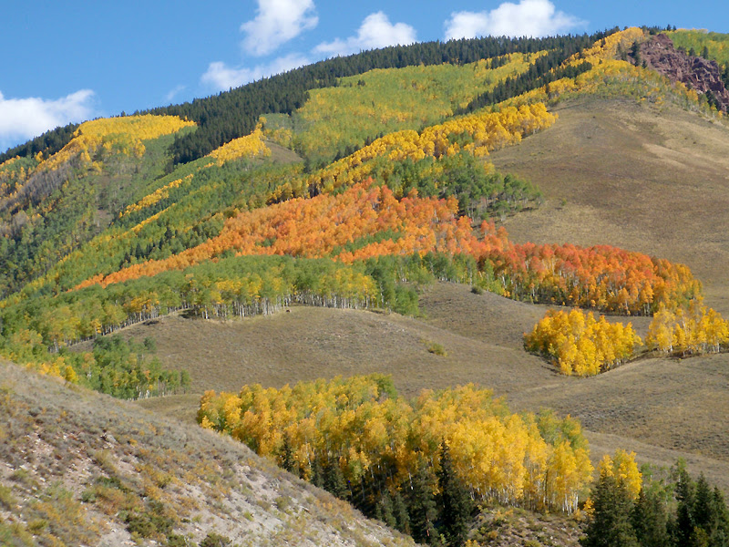 Lower Teocalli Ridge rises east of Crested Butte, Colorado.