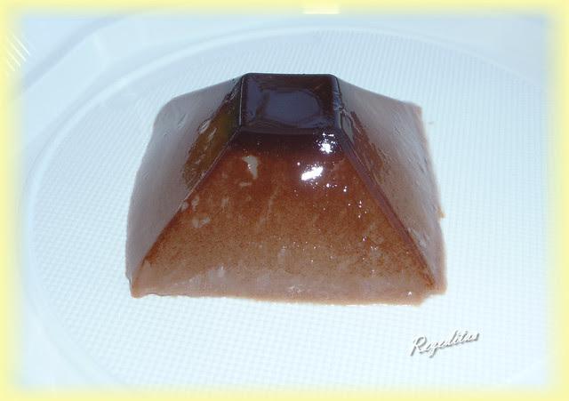 FLAN DE 2 CHOCOLATES