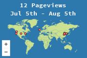 Localização dos visitantes