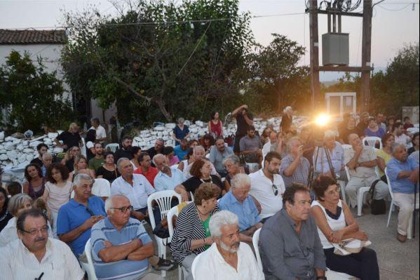 Πλήθος κόσμου στο Πολεμάρχι στην εκδήλωση μνήμης του Γιάγκου Κοντουδάκη