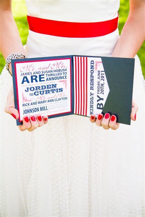 Red, White   Blue Wedding Stationery Inspiration