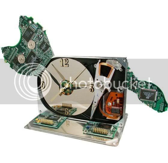 Computer cat clock