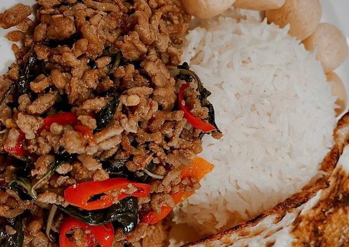 Cara Praktis Mempersiapkan Phat Kaphrao (Thai 🇹🇭 Streetfood) Cita Rasa Tinggi