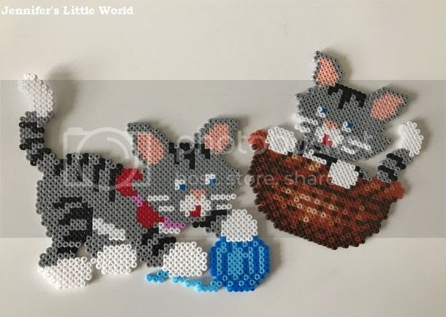 Mini Hama bead kitten kit