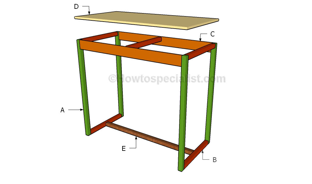 How To Build A Bar Table Howtospecialist How To Build Step By