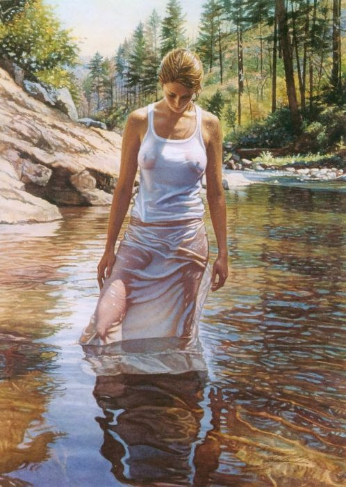 Realismo emocional de Steve Hanks Steve Hanks, aguarela, pinturas