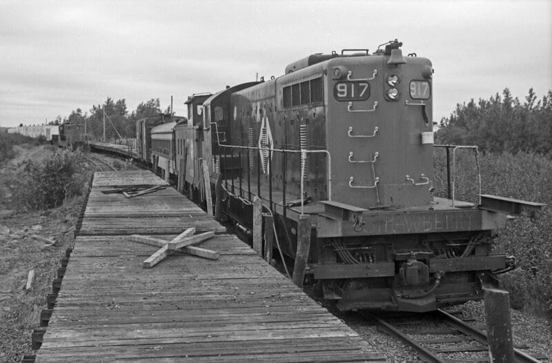 CN Narrow Gauge Newfoundland, Rail-Removal Train, August 1990.