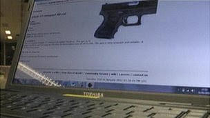 A gun for sale on the dark web