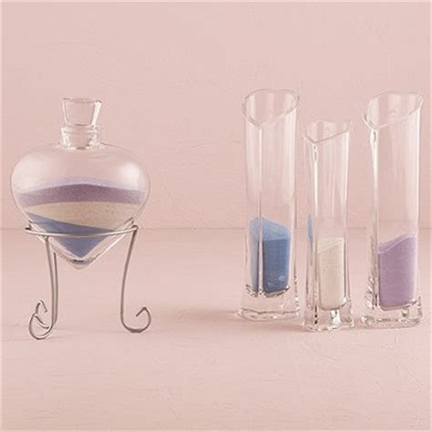 Heart Shaped Sand Ceremony Vase Set for Weddings   The