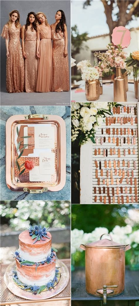 amazing vintage bronze copper wedding color ideas deer pearl flowers