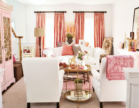 decorating pink living room small spaces Design Ideas Home Design ...