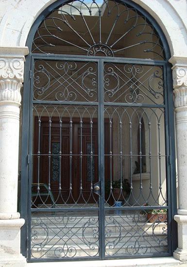 Wrought Iron Entry Front Door Custom Metal Door Exterior ...
