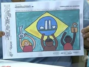 Desenho concurso Bahia (Foto: Reprodução/TV Bahia)