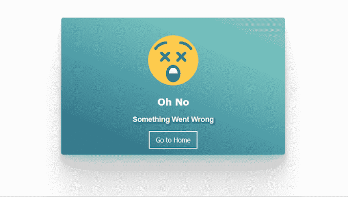 Oops something went wrong html code