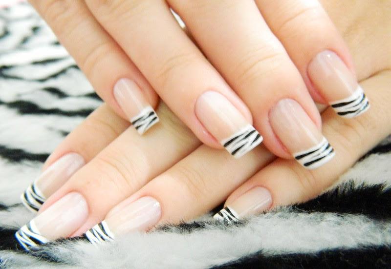 Juliana Leite nail art unha decorada francesinha com zebra 2
