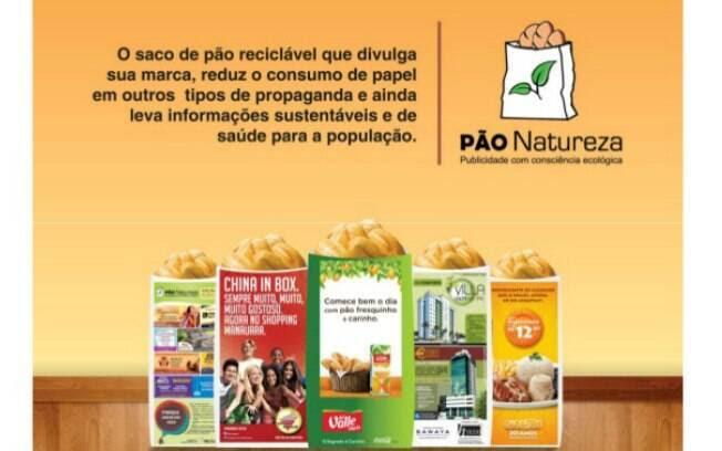 A Pão Natureza trabalha com a venda de anúncios em sacos de pão para distribuição nas padarias próximas à franquia - Valor de investimento: R$ 9 mil . Foto: Divulgação