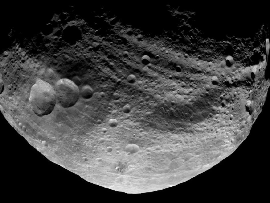 NASA's Dawn spacecraft obtained this image with its framing camera on July 23, 2011.