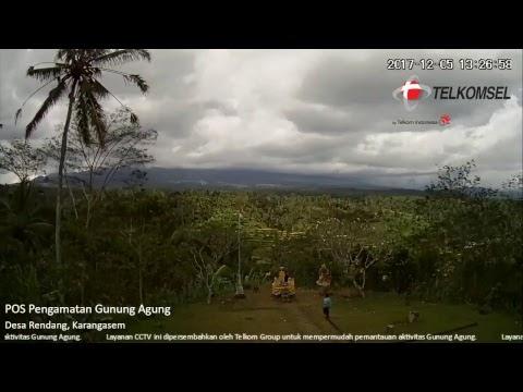 LIVE CCTV Pemantauan Aktivitas Gunungapi Agung Bali di Rendang Karangasem