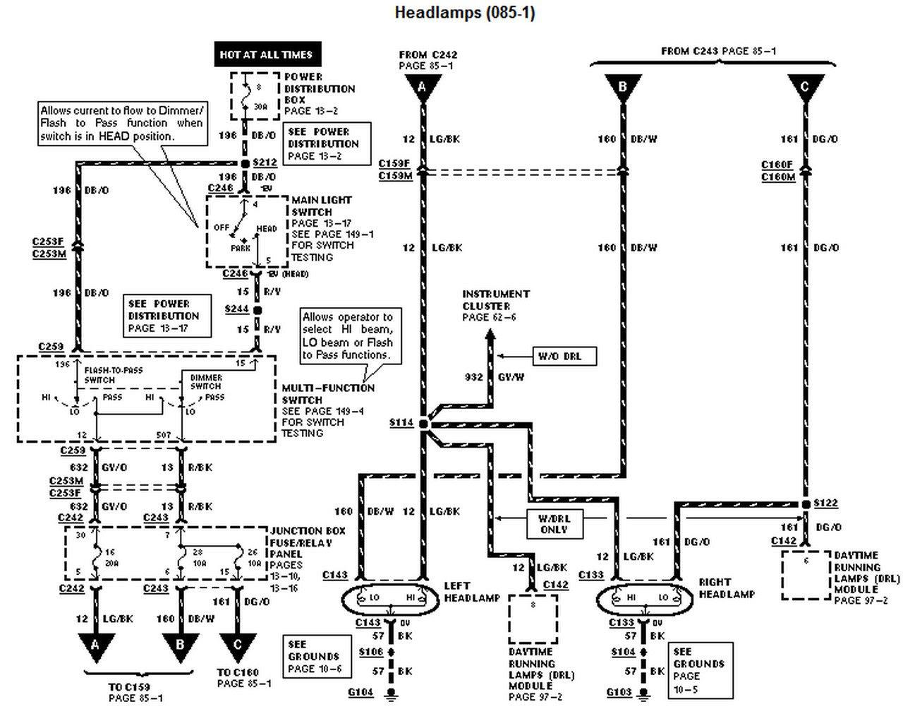 98 Ford f150 spark plug wire diagram
