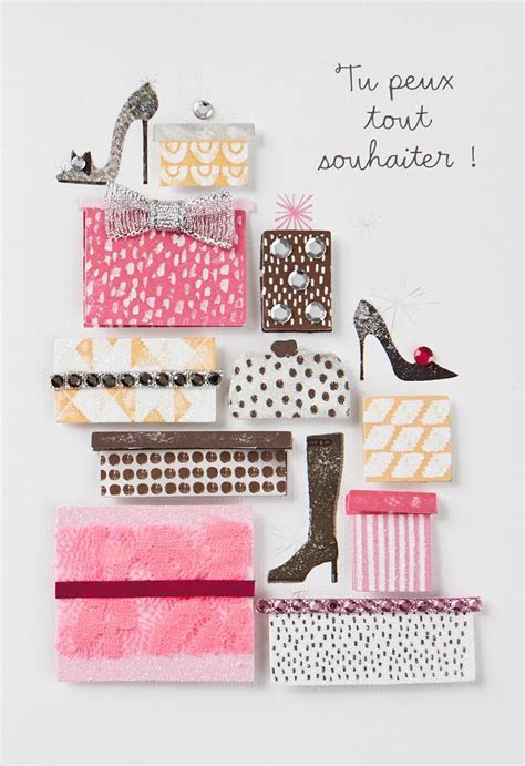 Wishes Are Like Shoes French Language Birthday Card