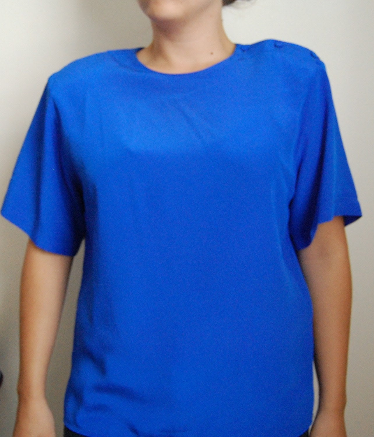 Vintage OPEN WATER Cobalt Blouse - Medium SALE